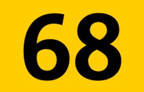 Logo ligne de bus 68