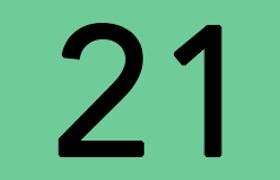 Logo ligne de bus 21